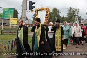 Крестный ход на святой источник,  где подвизался святой преподобный Филарет, старец Ичалковский. 2010 год