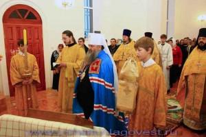 Освящение храма в честь свят. Димитрия митрополита Ростовского в селе Ульянки