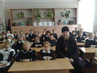 Протоиерей Иоанн Просвирнин посетил занятия в воскресной школе