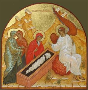Cвятые жены-мироносицы у гроба Христа