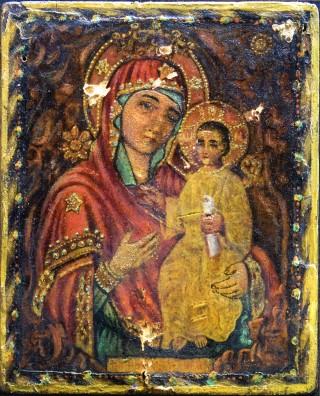 Икона Божией Матери «Избавительница от бед» без оклада.