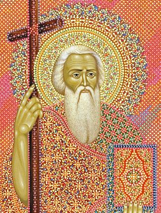 Икона святого апостола Андрея Первозванного (фрагмент),  иконописец Юрий Кузнецов