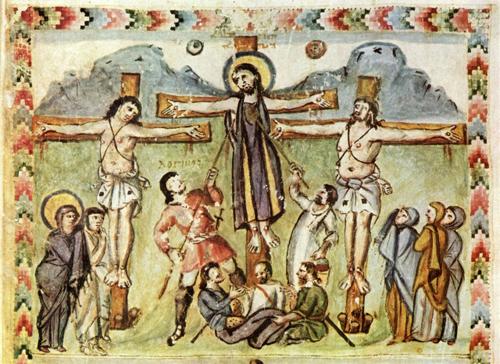 Распятие Христа. Евангелие Рабулы (586 год)