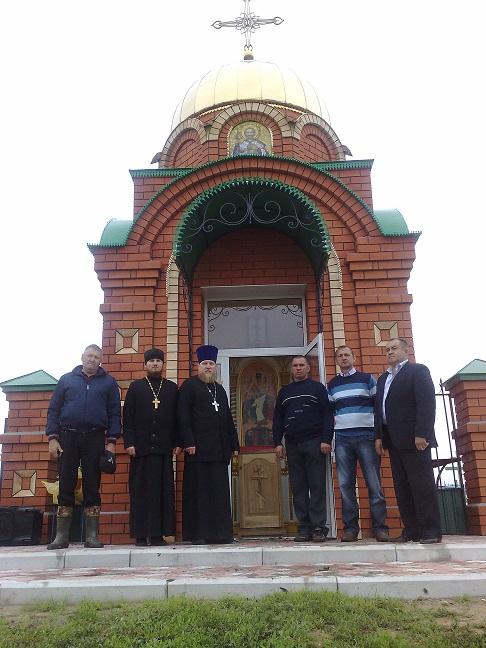 Освящение часовни в честь святого благоверного князя Александра Невского