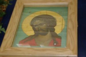 икона Господа нашего Иисуса Христа с частицей тернового венца Христова