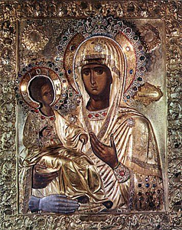 Чудотворная икона  Божией Матери «Троеручица»
