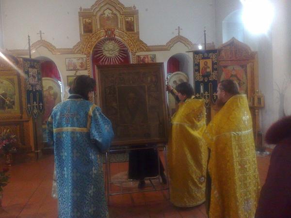 Прибыла чудотворная икона святителя Николая Мирликийского Чудотворца