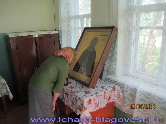 Перед образом «игумена Земли Русской» был отслужен молебен