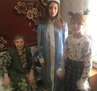 Воспитанники воскресной школы Рождество – Богородничного храма с. Кемля посетили дом престарелых в с.Лада